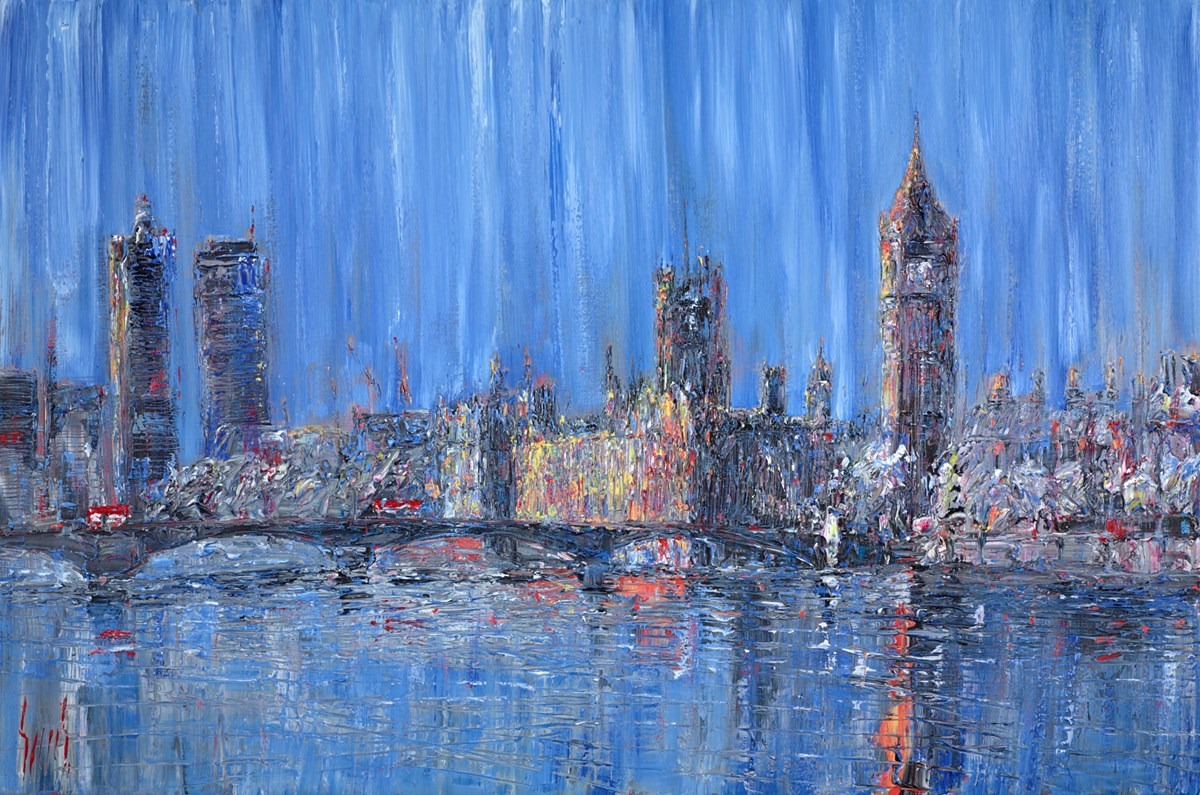 London City Reflections by carl scanes -  sized 47x32 inches. Available from Whitewall Galleries